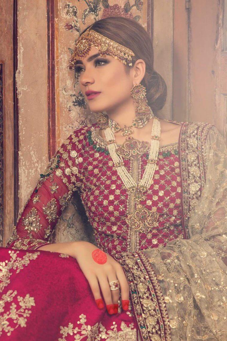 Maria B Wedding Dress for Walima Online