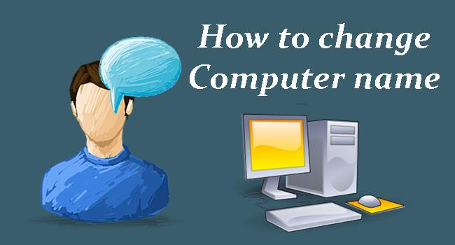 Computer name change kaise kare?