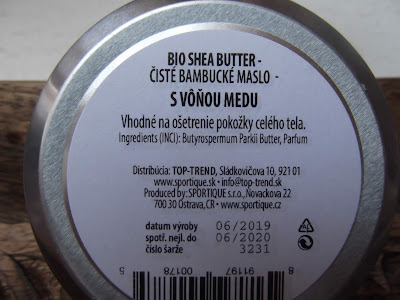 Sportique 100% Bambucké maslo MED zloženie