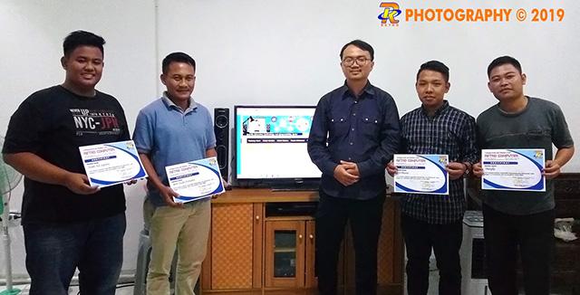 Foto Bersama Anggota BAPEDA Way Kanan 04-10 Nov 2019 Dalam rangka pelatihan web programing
