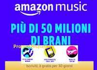 Logo Amazon Music : 50 milioni di brani Gratis per 30 giorni! approfitta della iniziativa !