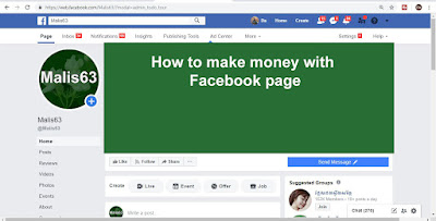 I General Share: How to make money with Facebook page