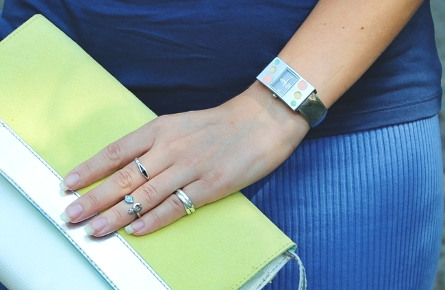 dainty silver rings and silver watch bracelet