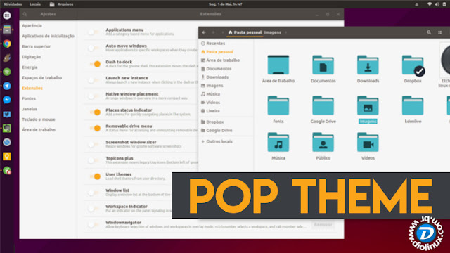 Pop GTK Theme Ubuntu Gnome