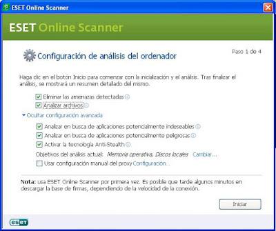 Descargar Eset online scanner analiza tu ordenador de virus