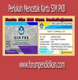 Kartu SIM PKB, Perlukah dicetak ?