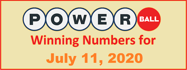 PowerBall Winning Numbers for Saturday, July 11, 2020