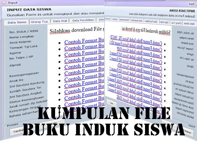 Buku Induk Siswa Microsft Excel TK/PAUD,SD/MI,SMP/MTs,SMA/MA