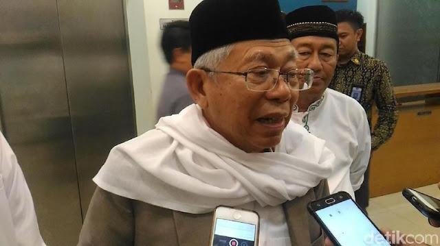 KH Ma'ruf Amin: Dengan Hoaks Orang Seenaknya Membuat Gaduh