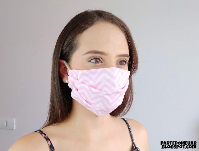 mascara tecido passo a passo