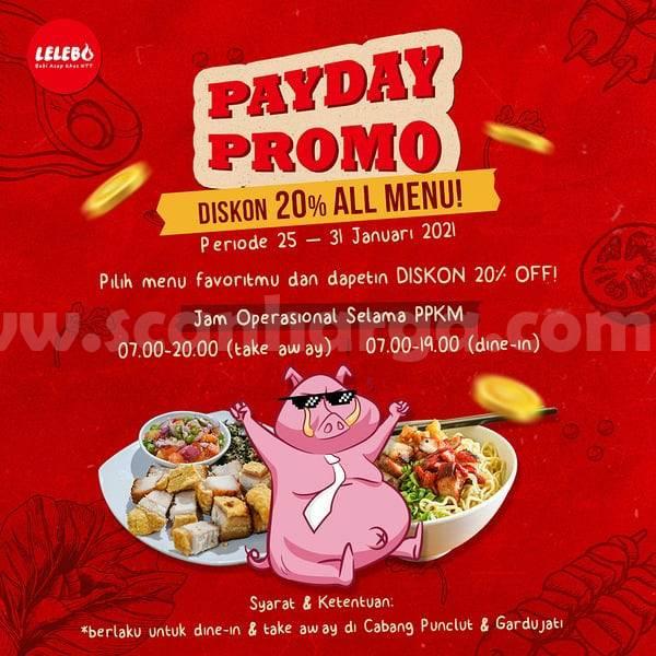 Promo Sei LELEBO PAYDAY – Diskon 20% All Menu