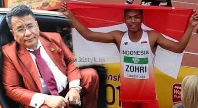 Viral! Moment Mengharuskan Muhammad Zohri, Hotman Paris Beri 100 Juta