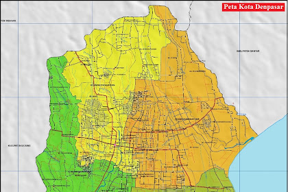 Peta Kota Denpasar Gambar HD | Provinsi Bali