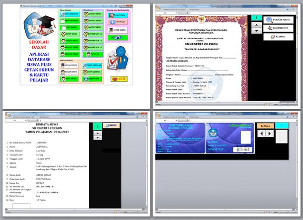 Aplikasi SKHUN SD Plus Database Siswa dan Cetak Kartu Pelajar