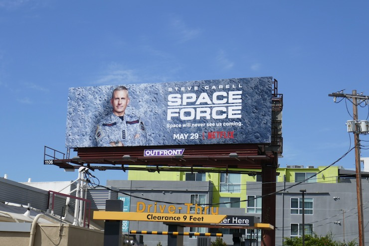 Space Force Netflix series billboard