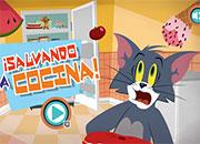 Tom y Jerry Salvando la cocina