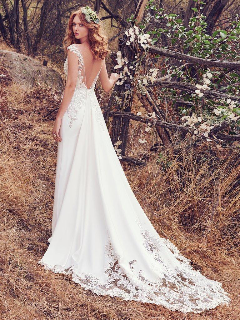 Pretty things wedding blog beautiful backless wedding for Gorgeous backless wedding dresses