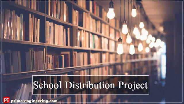 مشروع توزيع كهربي مدرسة كامل | Electrical Distribution School Project