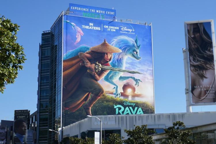 Giant Raya and the Last Dragon film billboard