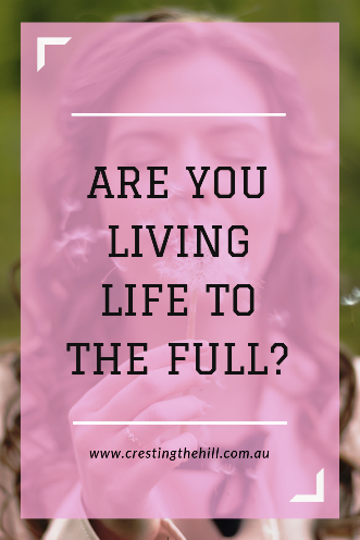 Are you living life to the full with peace, purpose, paring down and passing on to others?