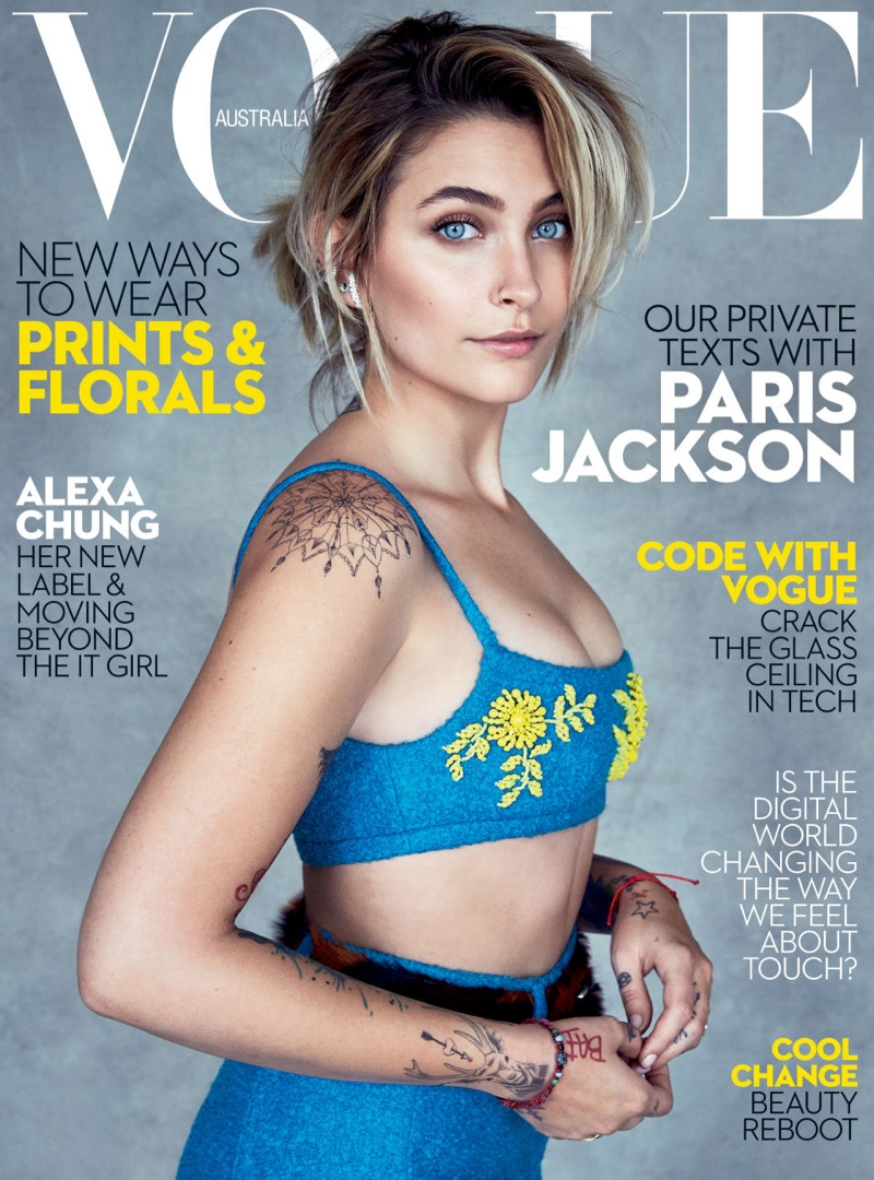Paris Jackson on Vogue Australia July 2017 Cover