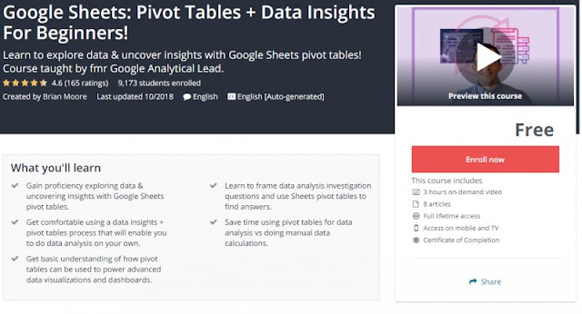 [100% Free] Google Sheets: Pivot Tables + Data Insights For Beginners!