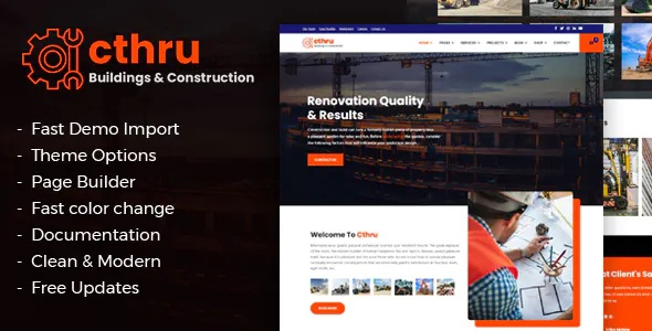 Best Construction and Building Business Joomla Template