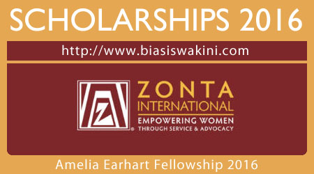 Amelia Earhart Fellowship 2016