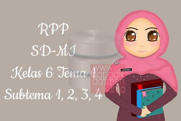 RPP Tematik SD/MI Kelas 6 Tema 1 Subtema 1 2 3 4 Semester 1, Download RPP Kelas 6 Tema 1 Subtema 1 2 3 4 Kurikulum 2013 SD/MI Revisi Terbaru, RPP Silabus Tematik Kelas 6