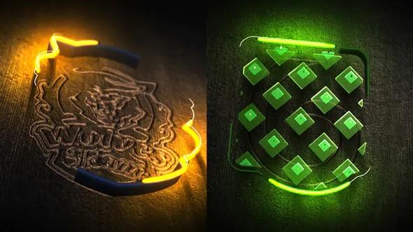 Videohive Neon Wood Logo Reveal 25295736