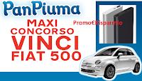 Logo PanPiuma : premio sicuro Powerbank e vinci Fiat 500