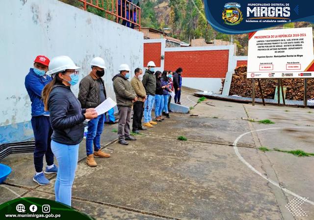 La Municipalidad Distrital de Mirgas y el Programa Trabaja Perú del Ministerio de Trabajo, iniciaron la ejecución de actividades en el distrito