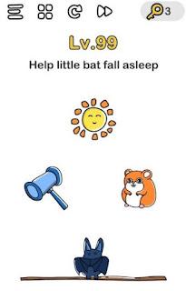 jawaban Bantu Kelelawar Tidur Brain Out