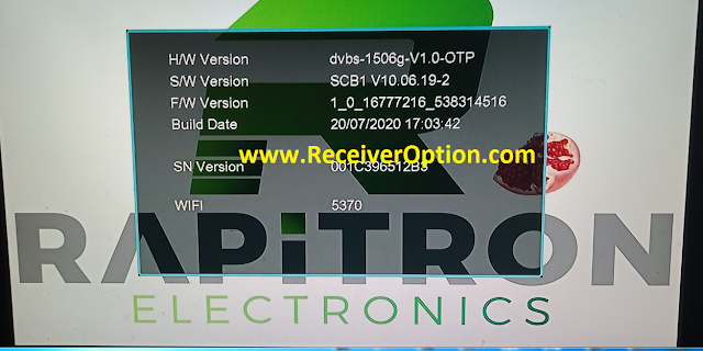 RAPITRON MOXIE 1506G 512 4M NEW SOFTWARE WITH TNT SAT ASTRA 19 EMU 20 JULY 2020