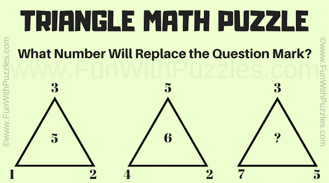 Triangle Maths Puzzle | What Number will replace the question mark?