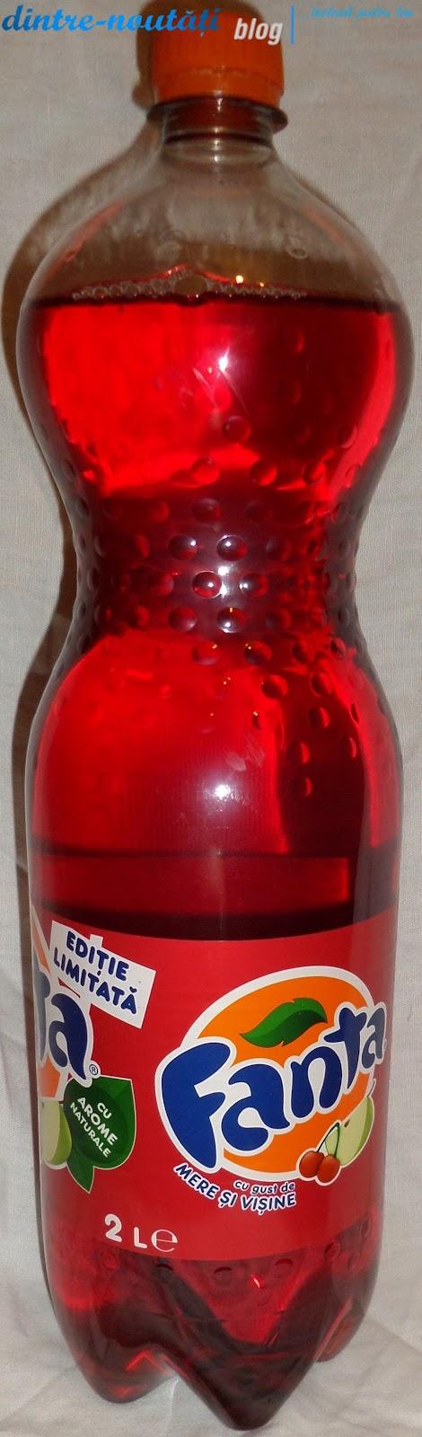 Băutură răcoritoare carbogazoasă cu gust de mere și vișine cu zahăr și îndulcitori