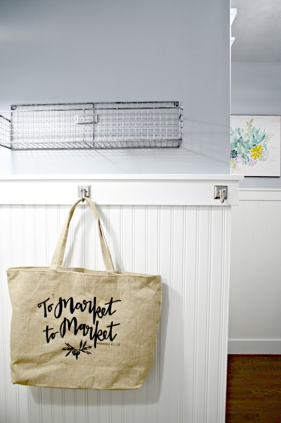 canvas market grocery bag