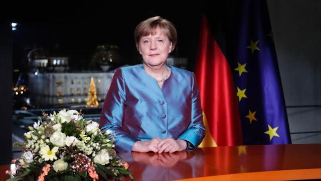 """Merkel: Terroristas 'cargados de odio"""", mi mayor 'desafío' en 2016"""