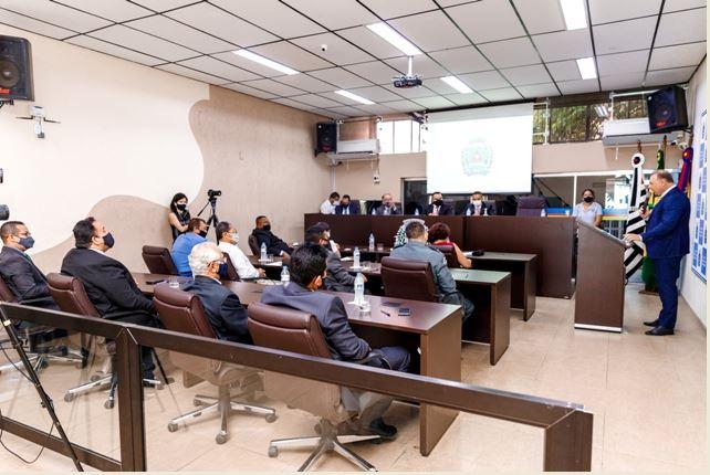 Cerimonia de posse do prefeito, vice e vereadores de Registro-SP foi Cerimônia restrita, devido aos protocolos de segurança da Covid-19