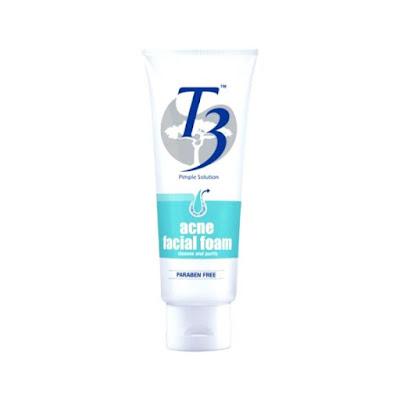 pencuci muka t3 untuk kulit berjerawat