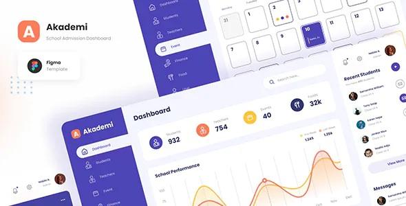 Best Elegant School Admin Dashboard PSD Template