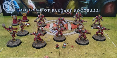 Workbench Progress - Human Blood Bowl Team
