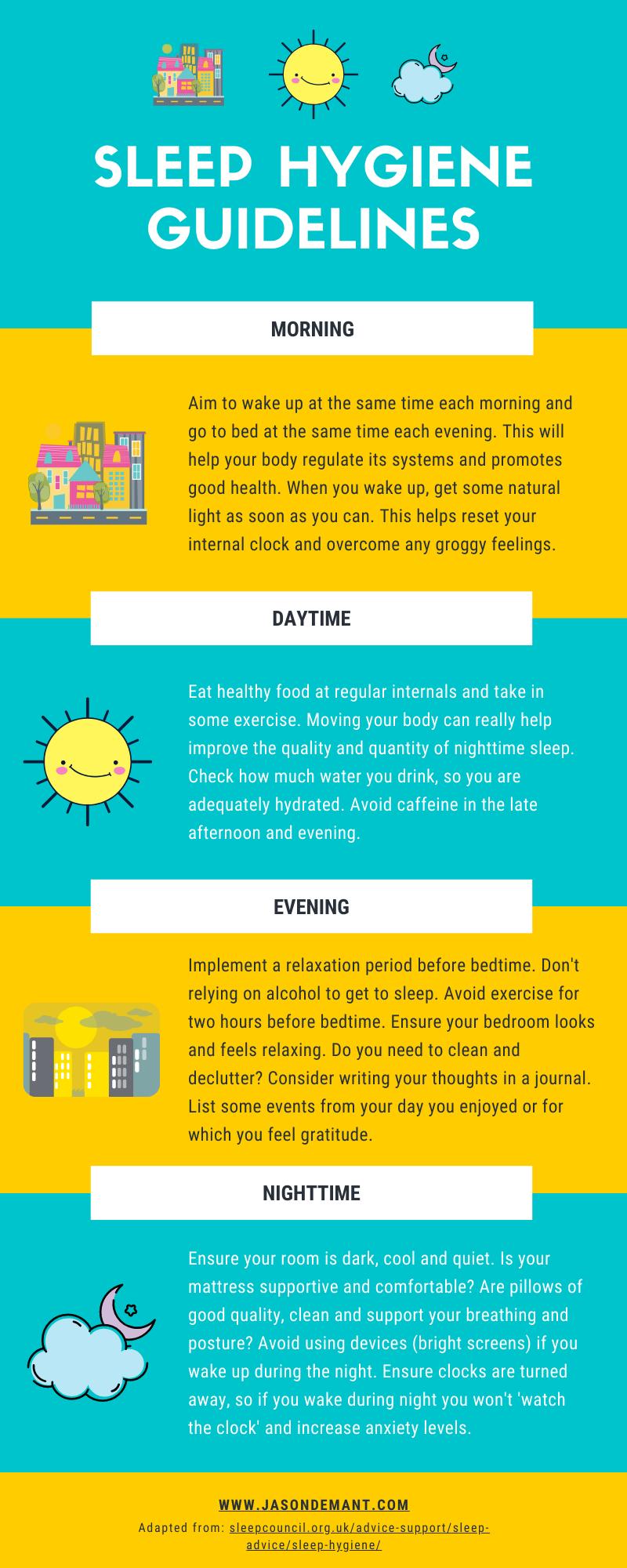 Sleep Hygiene Activities to Help You Sleep Soundly #infographic