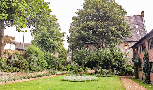 Jardim do Winchester Royal Hotel, Inglaterra