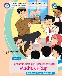 Buku Paket Tematik Kelas 3 Kurikulum 2018 Revisi dari Kurikulm 2013 tema Pertumbuhan dan Perkembangan Makhluk Hidup