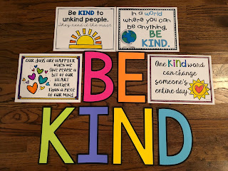 BE KIND bulletin board letters and posters
