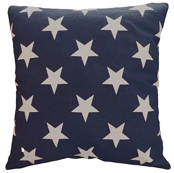 Stars on Blue Pillow