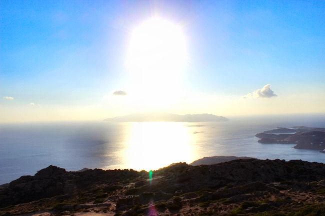 Ios island sunset