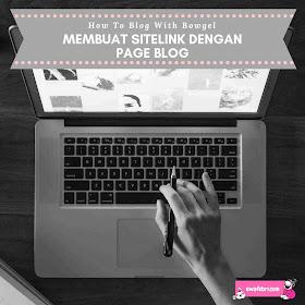 tips membuat sitelink menggunakan page blog