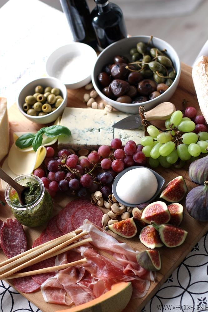 Italienische Vorspeisenplatte Zuhause selber machen